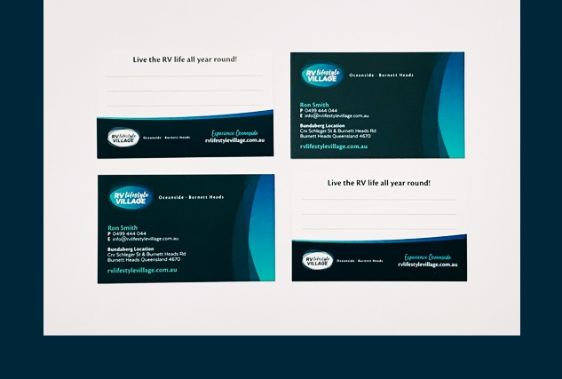 RV Lifestyle Village business cards