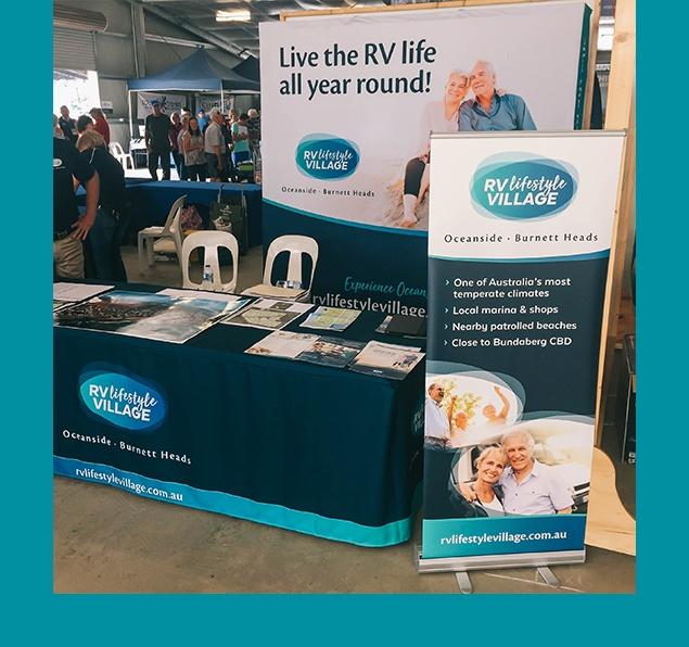 RV Lifestyle Village tradeshow stand