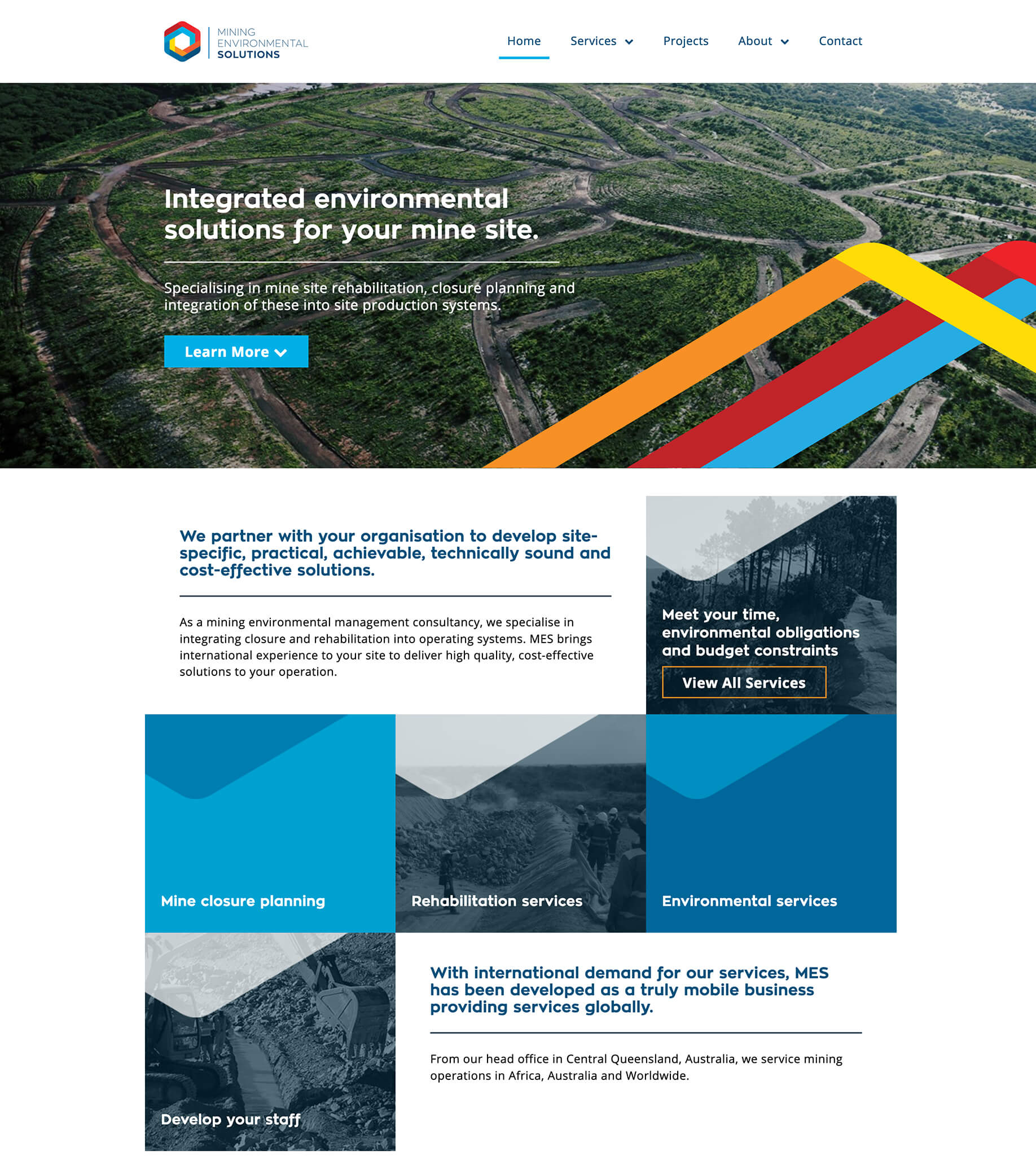 Mining Environmental Solutions website preview